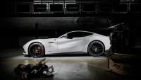 Белый Ferrari F12 Berlinetta Обои и фото