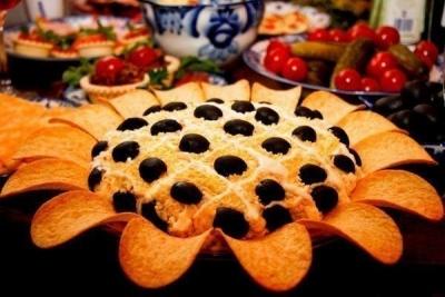 Рецепт салата «Подсолнух», пошаговое приготвление, фото